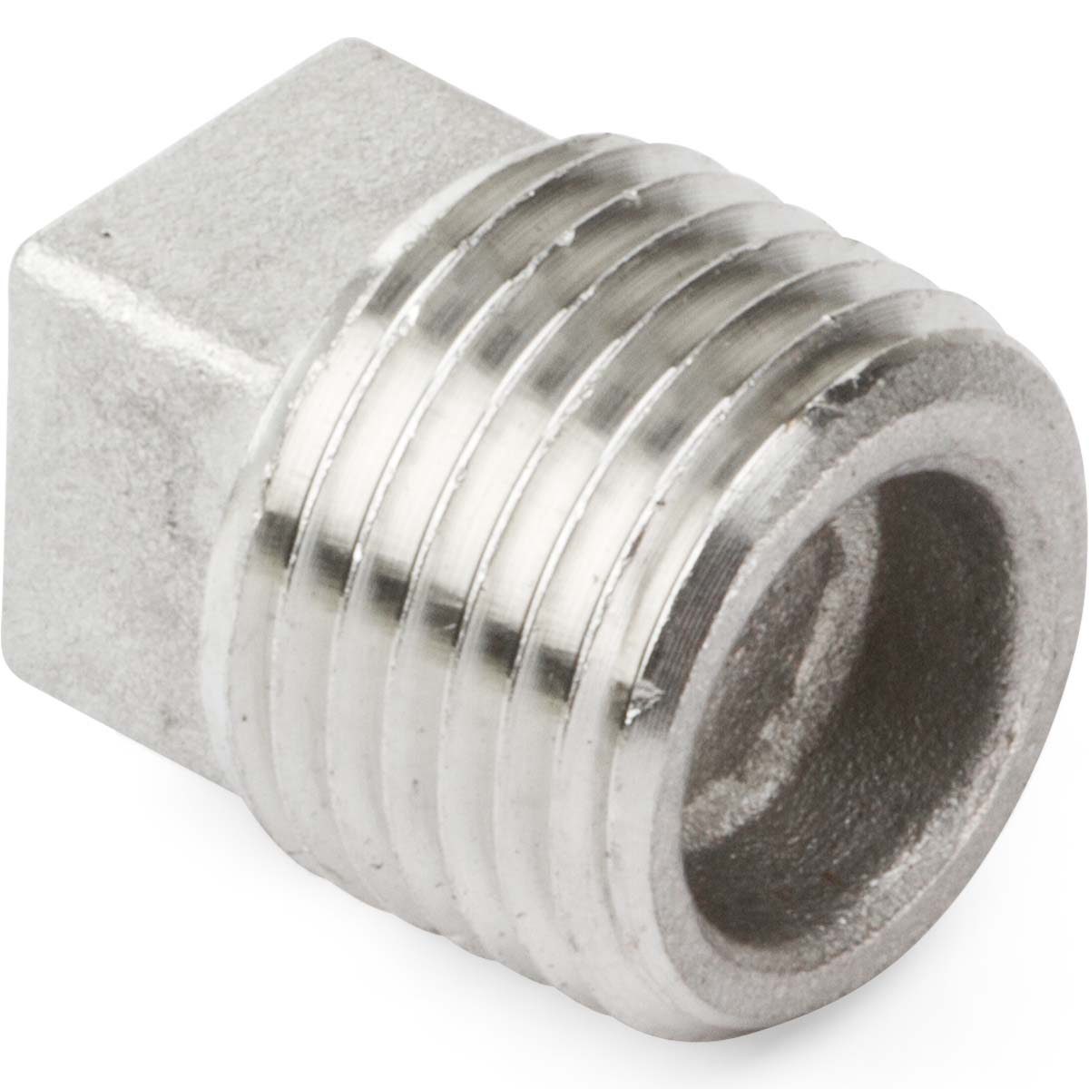 Stainless steel pipe square head plug kimball midwest