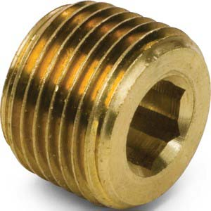 1/4  Brass Pipe Hex Socket Plug