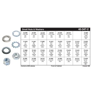 Small Nuts & Washer Assortment (#4 - #12)