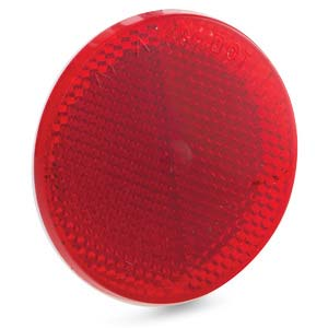 Red Adhesive Reflector 3""