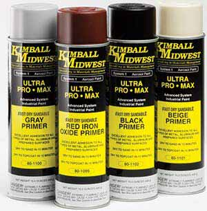 Red Iron Oxide Fast Dry Sandable Primer - Kimball Midwest